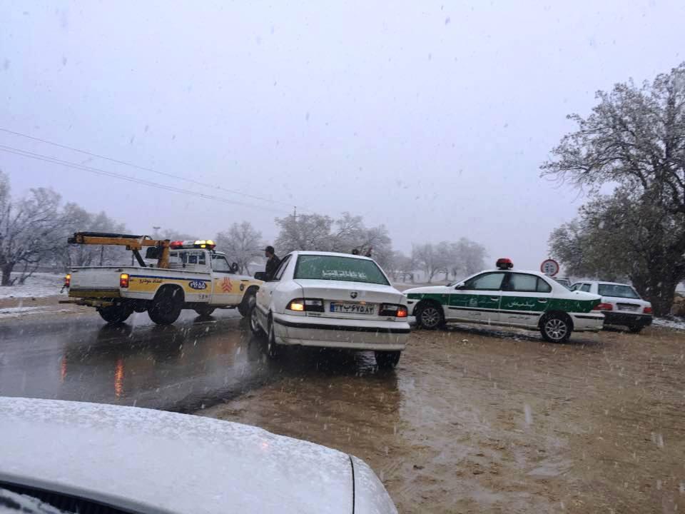بارش برف در ممسنی www.Loori.ir